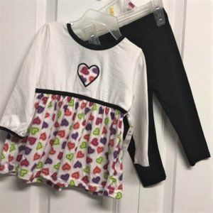 Kidgets Tunic Outfit Size 12M Heart Print NEW